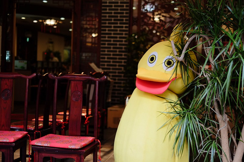 strange duck at peking duck restaurant