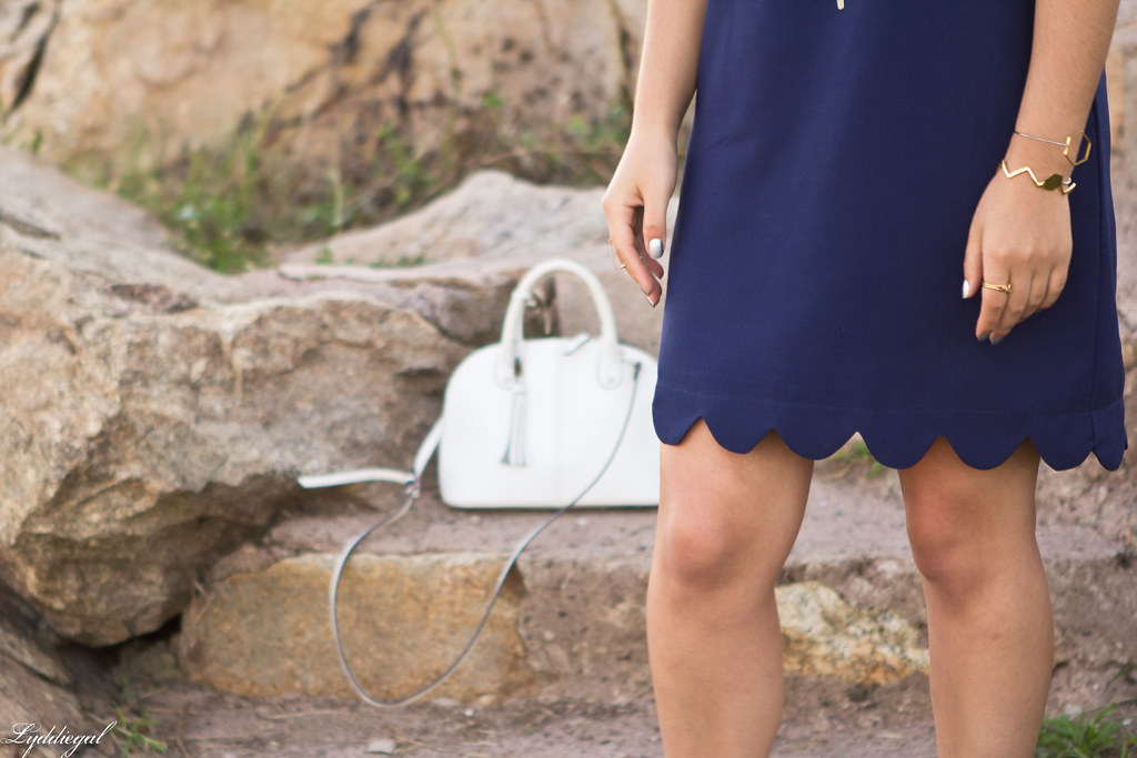 navy scalloped dress, white bag and sandals-11.jpg