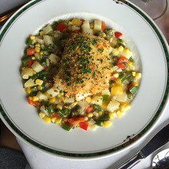 Walleye and succotash wedding dinner at the University Club of St. Paul