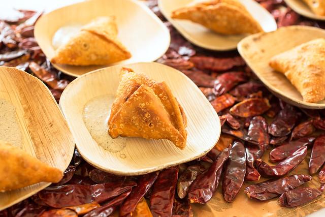 Buffalo Chicken Samosas - Caffe Serai