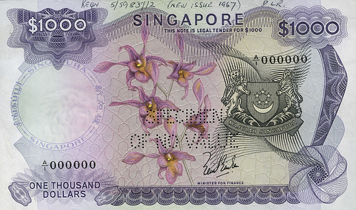 DNW - Singapore $1000 note