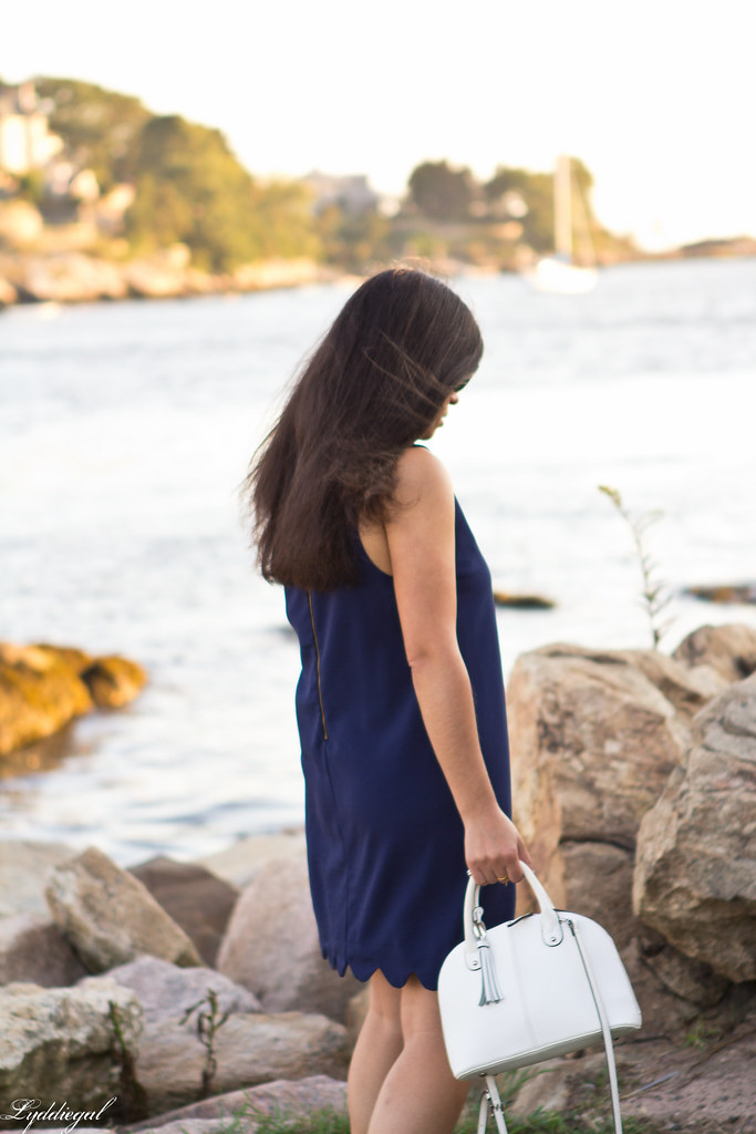 navy scalloped dress, white bag and sandals-9.jpg