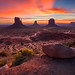 The 3 Brothers, Monument Valley by albert dros