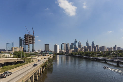 city tower philadelphia skyline architecture construction cityscape view trust philly update brandywine realty fmc