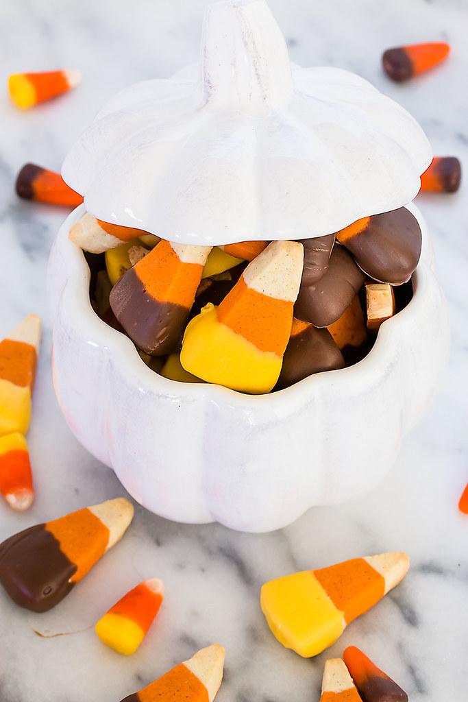 Candy Corn Sugar Cookie Recipe - a deliciously addictive festive fall sweet!