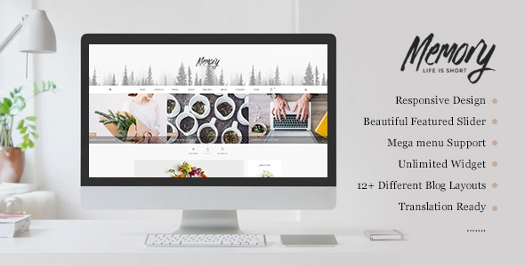 Themeforest Memory v2.0 - Mobile Friendly WordPress Blog Theme