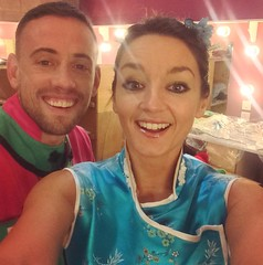 Sam and Amy in Panto 2015
