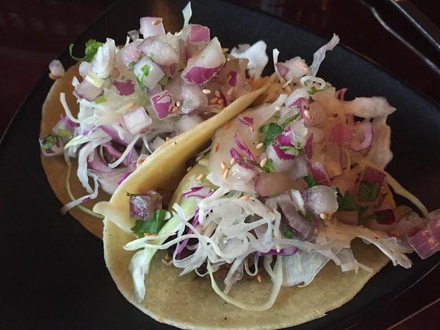 Galbi short rib tacos - Vatos Urban Tacos