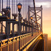 Sunrise on the Benjamin Franklin Bridge by Mark Luethi