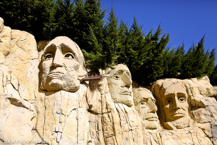 Lego Mount Rushmore - Around the World Tour at Legoland San Diego.