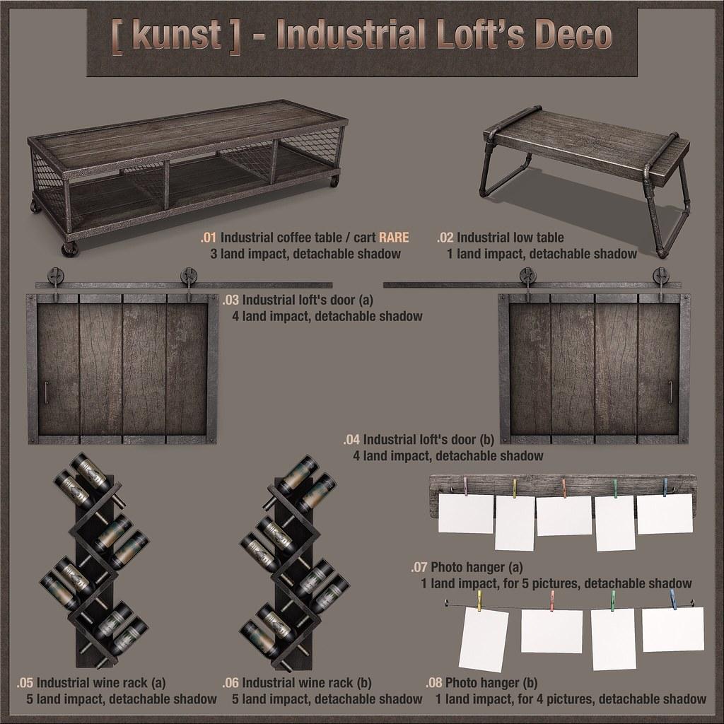 [ kunst ] - Industrial Loft's Deco - SecondLifeHub.com