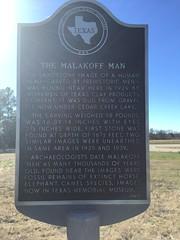 TX historical marker between Malakoff and Waco, TX.  Jan 2017.