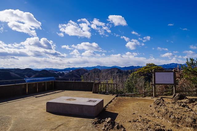 天覧山・・・奥多摩の山々、、、富士山は雲に隠れてます