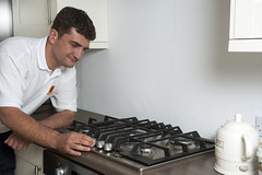 Man with Stove