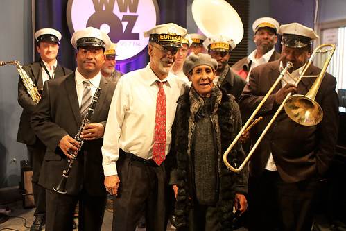 Dee Lindsey with the Eureka Brass Band. Photo by Bill Sasser