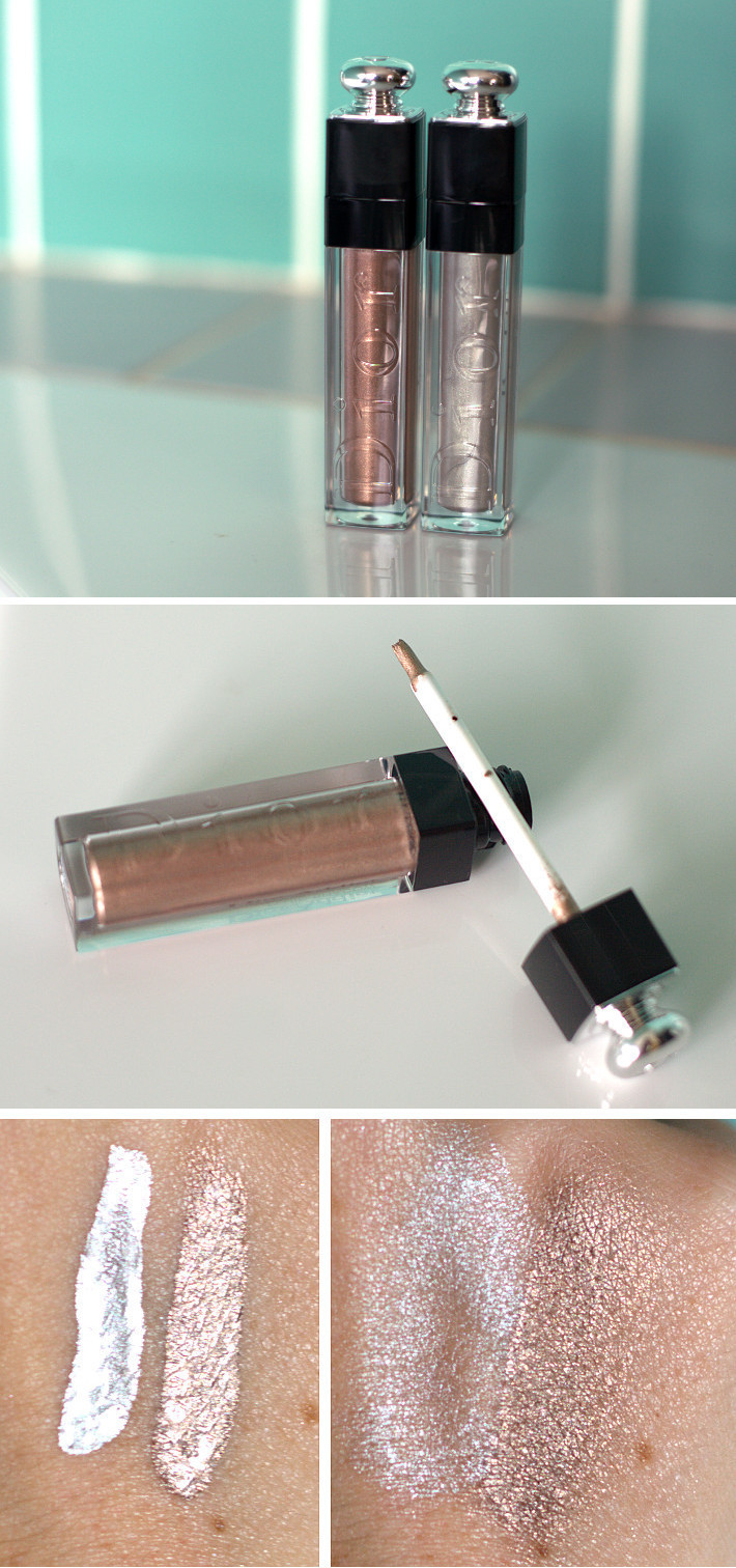 Dior Addict Fluid Shadow in Univers and Magnetic review and swatches