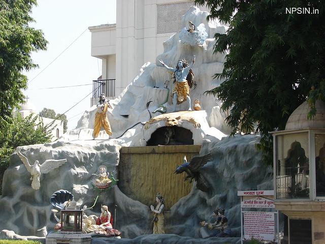 Lord Shiva calling Devi Ganga on request of Bhagirath Ji with Maa Saraswati, Narayan-Lakshmi and Narad Muni