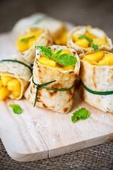 sweet mango crepe