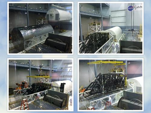 James Webb Space Telescope Telescope Structure Arrival