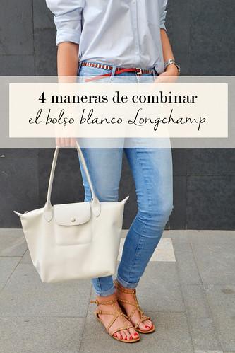 4 maneras de combinar un bolso blanco de Longchamp