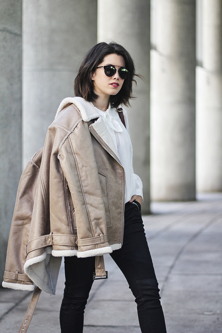 shearling suede jacket winter look myblueberrynightsblog