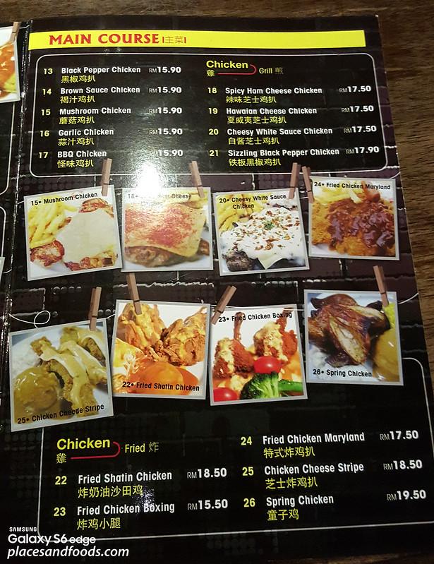 kaki corner cheras menu