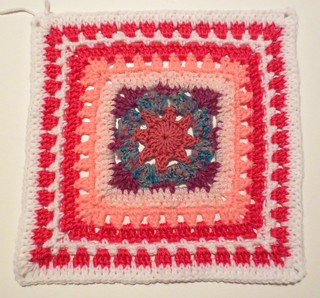 Scrappy Pink Heat Wave Square