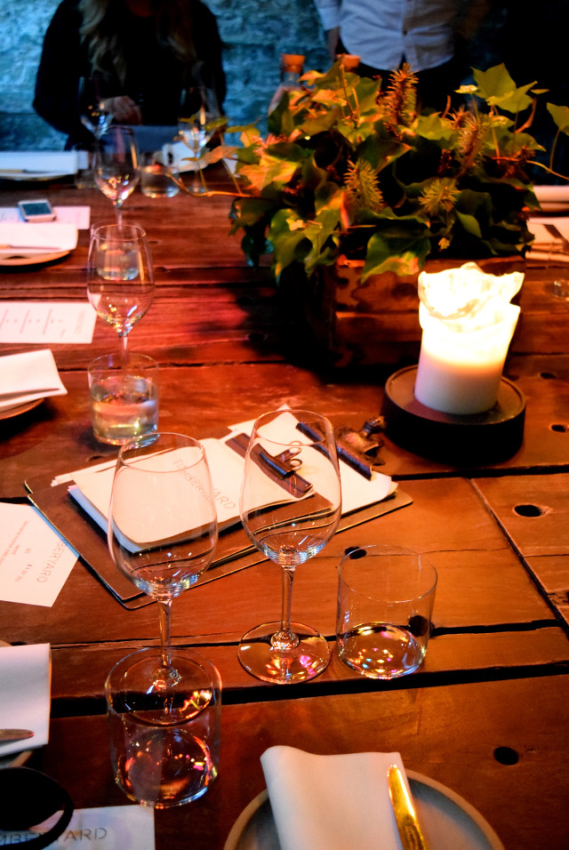 Private Room Table Setting at Timberyard, Edinburgh
