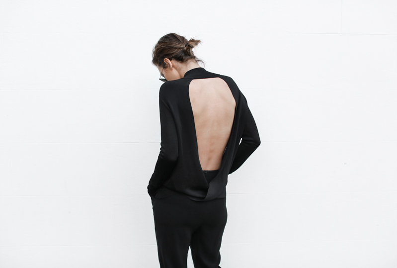 Dion Lee open back knit, all black outfit, street style, transseasonal, fall, MODERN LEGACY blog (1 of 1)