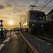 Train and sunset (ILCE-6000 + Carlzeiss Touit 2812) by tadanori.inoue