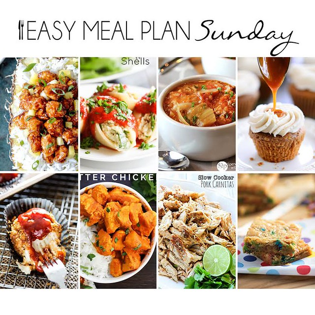 Week 18. Collaborative weekly meal planning. 9 bloggers. 6 dinner ideas, one weekend breakfast plus 2 desserts every single week equals one heck of a delicious menu!