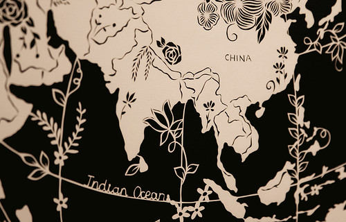 Cut Paper Map by Vanshika Agarwala - Detail