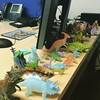 They gave me the perfect office to work in during my trip to Bangkok. Sometimes it's hard to stay focused during meetings when all I want to do is play with the toy dinosaurs. #worktravels