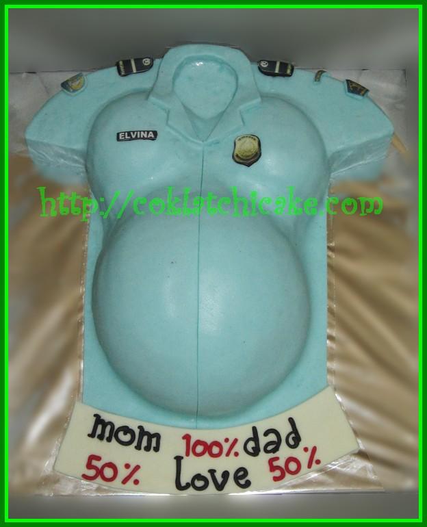 Cake Seragam Imigrasi dan ibu hamil