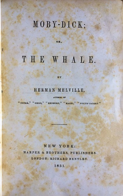 Moby Dick 1851 title page