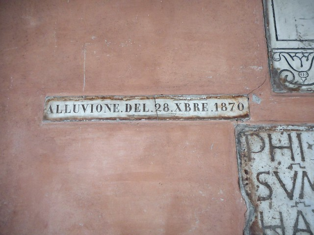 Flood December 28, 1870 in Rome - San Lorenzo in Lucina Church in Rome
