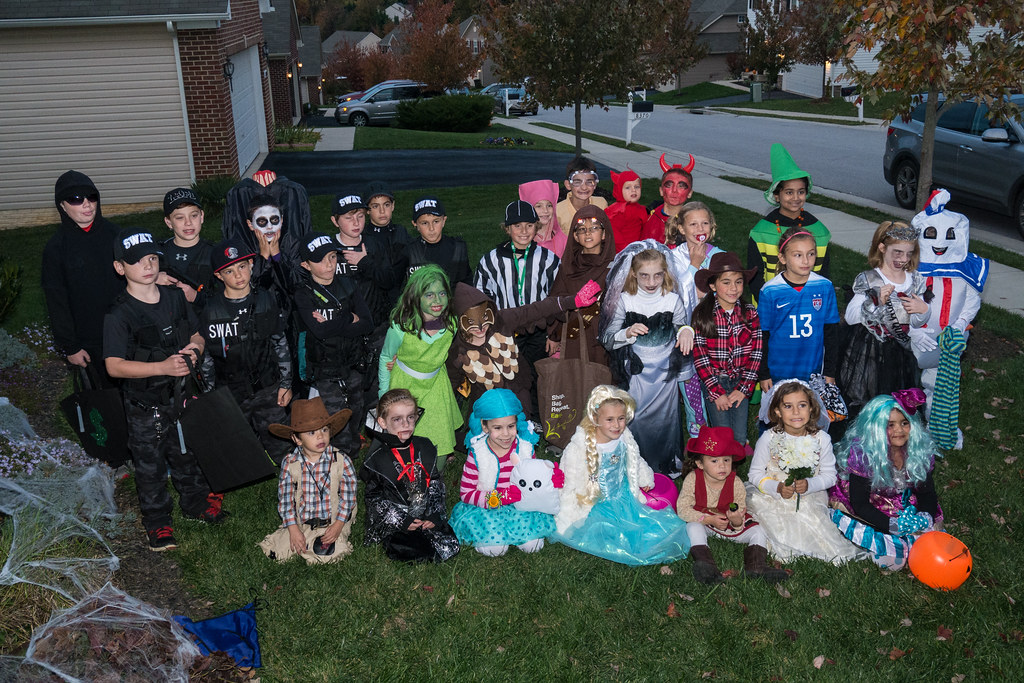 Neighborhood trick-or-treaters