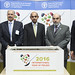 Tue, 11/10/2015 - 11:59 - 10 November 2015, Rome, Italy - Mahmoud Solh, Director-General of the International Centre for Agricultural Research in the Dry Areas (ICARDA), Aydin Adnan Sezgin, Permanent Representative of the Republic of Turkey to FAO, FAO Director-General Jose' Graziano da Silva, Nadeem Riyaz, Permanent Representative designate of the Islamic Republic of Pakistan to FAO, Marcela Villarreal, Director FAO office for Partnership, Advocacy and Capacity Development. International Year of Pulses (IYP) 2016 Launch Ceremony with Ceremonial Plantingo by FAO Director-General, FAO Headquarters.