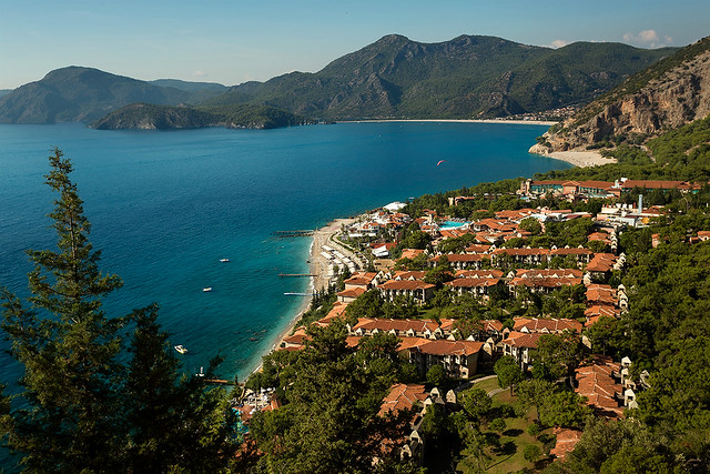 Ölüdeniz near Fethiye along the coast of Turkey.