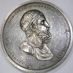 New England Society for Promotion of Manufactures and Mechanic Arts Medal obverse