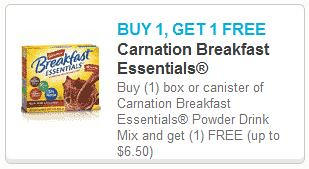 Free Carnation Breakfast Essentials Coupon