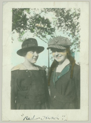 Two Girls with hats