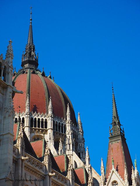 La cupola del parlamento di Budapest