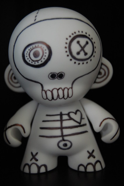 Vinyl Munny drawn on with Sharpie