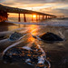 Pacifica Pier and the Triplets by Aron Cooperman
