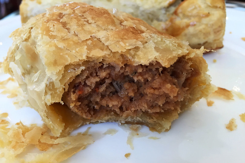 Beef sausage roll, Dinky Di Pies & Pastries