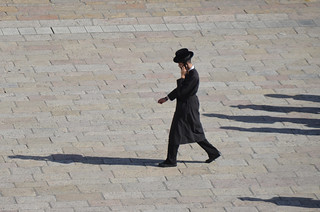 Image of  Western Wall  near  Old City. ultraorthodox jew eastjerusalem jewishquarter judaism shadows mobile wester westernwall