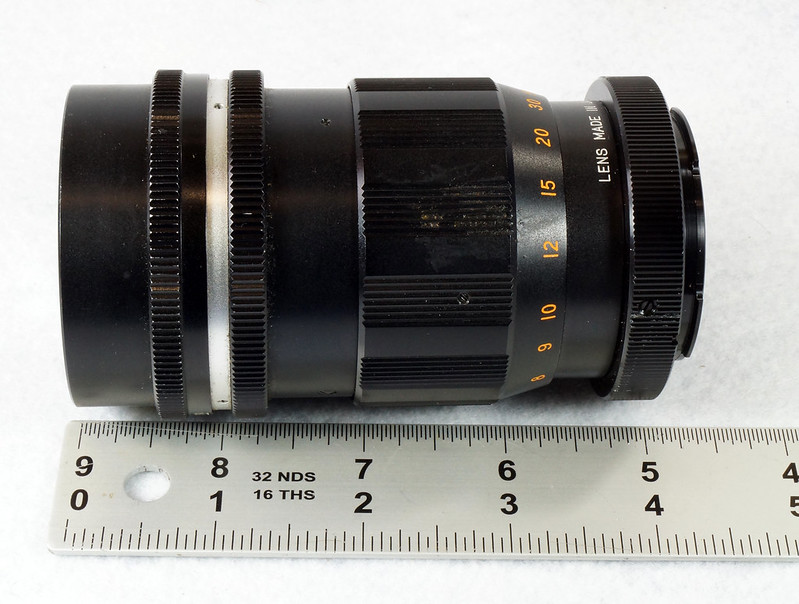 RD15090 Vintage Vemar Telephoto Zoom Camera Lens 1_2.8 f = 135mm No. H50403 Ricoh Mount DSC07452