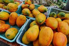 Fresh and tasty papaya from a market