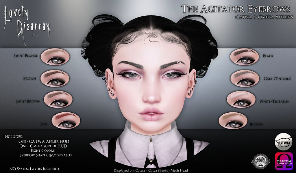 Lovely Disarray - The Agitator Eyebrows @ Skin Fair 2017 - SecondLifeHub.com